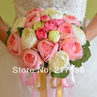 [4 color] (20heads/bunch) 2014 New.Silk / Simulation / Artificial flower Camellia Romantic,Wedding/Bridal bouquet