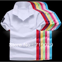 2pcs/lot  2013 Women's Cotton Fashion Style short-sleeved Solid Color Polo Shirt Women Clothes 11Color  Size M-XXL FreeShipping