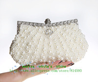 2014 New Design! Free Shipping Wholesale SWEETHEART Dianmante Pearl Ladies Clutch Evening Bag,Party /Wedding Bags/92045