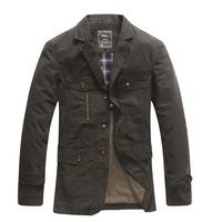 2013 Fall New jeeprich men's casual men's suit jacket collar jacket 8288