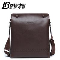 GENUINE LEATHER Shoulder bag cowhide men commercial messenger bag b10891