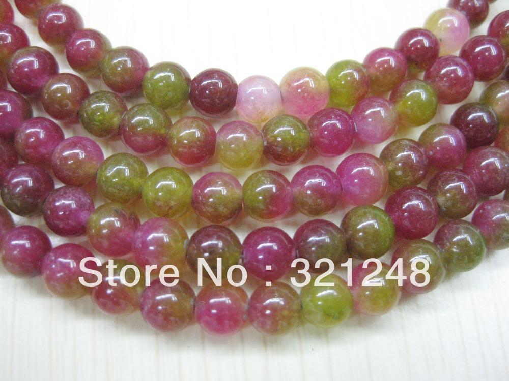 Genuine 8mmm natural crystal watermelon chalcedony beads MY005 48pcs jewelry beads jewelry making(China (Mainland))