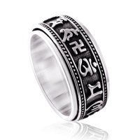 Apotropaic wheel jingangchu transhipped  damings male   vintage thai   men jewelry sterling silver accessories ring