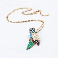 Fashion accessories multicolour parrot long necklace pendant necklaces pendants best friend