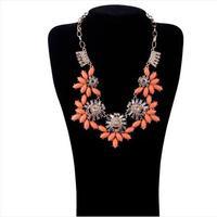 Fashion accessories short design flower gem sweater necklace pendant necklaces pendants best friend