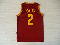 Free Shipping Kyrie Irving #2 Basketball Jersey, Embroidery Logos Irving Retro Basketball Jersey All Colors