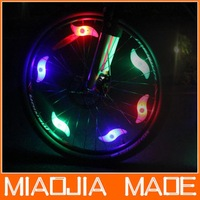 4PCS/ lot  Bike Bicycle Cycling Wheel Spoke Tire Wire Tyre Bright LED Light Lamp, Free & Drop Shipping 4 light color can choose