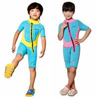 Neoprene 2.5mm kids short sleeve snorkeling dress kids thicken professional heat preservation wetsuits 8002
