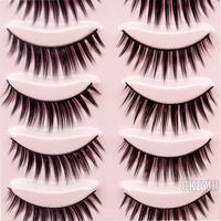 5 Pair Brown natural Thick Long  False Eyelashes Eyelash Makeup EyeLashes Voluminous 0.3-FE006H