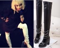 Rita Ora wearing Fall 2013 C White Chain Link Thigh High Boots 2013-2014