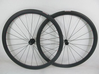 Farsports Ultralight 2014 carbon wheels compatible tubeless tyre 38mm carbon clincher wheelsets 23mm wide aero bicycle wheels