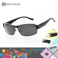 AEVOGUE  with Original box brand Polarized sol  sunglasses men sun glasses male Al-Mg Alloy Ultralight Blue Coating AE0111