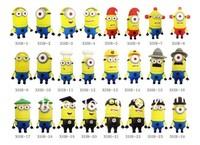 Free shipping cartoon minions shape usb 2.0 memory stick flash drive pen drive (48 styles )
