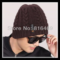 Free Shipping! 2013 Korean hot men's new classic winter warm wool knit hat outdoor recreation fashion head cap sleeve beanies