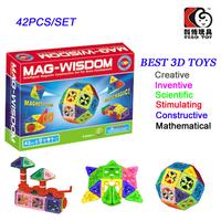 42PCS Mag-Widsom Construction Blocks Magnetic Building Toys Lot for Children Magformers