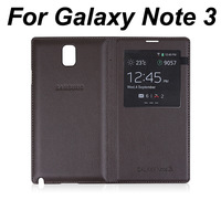 S View Sleep Wake Function Flip Leather Back Cover Battery Housing Case For Samsung Galaxy Note 3 Note3 Note III N9000