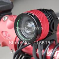 Bike Light CREE XM-L T6 1800 Lumens LED Headlamp Headlight Rechargeable Lamp Light & 4 * 18650 Battery Pack & Charger