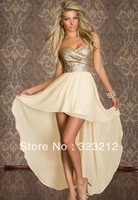 Hot Sell Sexy Women Girls Chiffon Strapless Slim Ankle-Length Dress Party Wear Elegant Dress