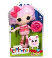 "Free Shipping Original box Lalaloopsy doll plush toys,Soft Doll-Lalaloopsy girl Pillow Featherbed 11 ""plush doll,dolls for girls"