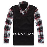 [BX04] 2013 Fashion Winter Men's Keep Warm Shirts,Knitting Underwear of False Two-Piece Thicken High Quality Low Price XXXL