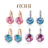 Delicate Large zircon Earrings,Gift to girlfriend,pink blue 4clolor handmade fashionable Stud Earrings