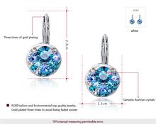Delicate Large zircon Earrings Gift to girlfriend pink blue 4clolor handmade fashionable Stud Earrings