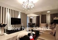 Classic Non-woven Velvet Flocking Plain Stripe Modern Fashion Wallpaper Wall Paper Roll For Living Room Bedroom