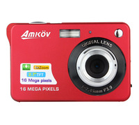 "HD Digital Camera 16MP 2.7"" TFT 4X Zoom Smile Capture Anti-shake Video Camcorder red or black E9010Z"