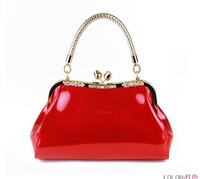 Women's bags  women's handbag leather handbag shoulder bag red bridal bag