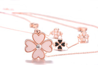 Four leaf clover multi-layer long necklace long design necklace accessories all-match accessories female