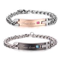 Lovers bracelet fashion male women's titanium anti-allergic birthday gift accessories a pair of