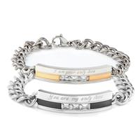 Lovers bracelet a pair of titanium fashion male cross