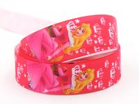 "Unber ribbons 50Y 7/8""  The Princess Printed Grosgrain ribbon 22 mm Hair Accessories DIY handmade X1320 Free shipping"