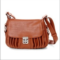 2013 Brand women fashion handbag/pu Korean style shoulder handbag/trend vintage casual creases messenger bag/free shipping
