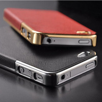 Big sale luxury elegant good quality two color silver gold mobile phone cover shell for iphone 5 5s i phone5 case