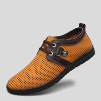 handmade Genuine leather shoes for men breathable men's fashion leather shoes
