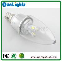 3W LED Candle Light 5630 SMD 6 LED Bulb Lamp Dimmable E14 Warm White/Cool White 85-240V 360C lighting