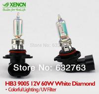 XENCN HB3 9005 12V 60W White Diamond Light Colorful Lighting Replace Upgrade Car Bulbs Type Halogen Fog Lamp Free Shipping