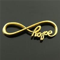 20pcs/lot 39*15mm 3 Colors Antique Gold, Antique Silver, Antique Bronze New Arrival Hope Infinity Connector Charms