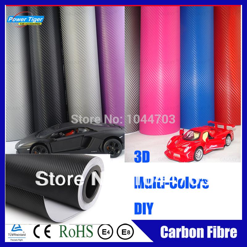 2PCS/LOT 0.5*2m Car Accessories DIY Waterproof Auto 3M 3D Carbon Fibre Car Sticker Film Vinyl carbon Fiber For Car/Phone/Ipad(China (Mainland))