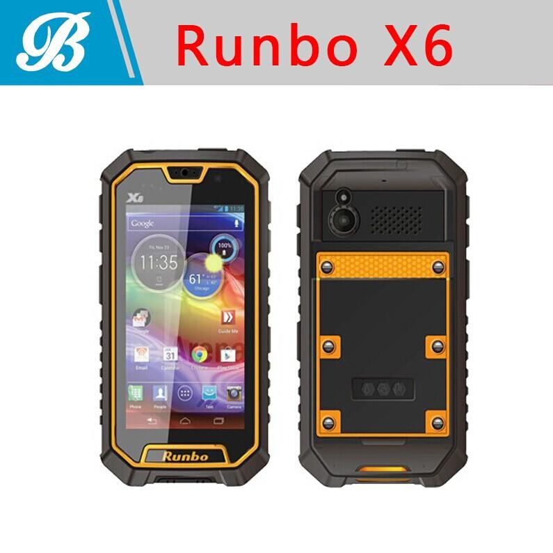 Runbo X6 Rugged SmartPhone IP67 Dustproof Waterproof Outdoor Android 4.2 MTK6589T Quad Core RAM 2GB+ROM 32GB Mobile Phone(Hong Kong)