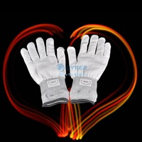 New Fashion 7 Mode LED Rave Light Finger Lighting Flashing Glow Gloves Novelty White Drop Shipping TK1141