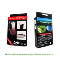 Universal clamp wide-angle fisheye lens macro mobile phone lens  wide Angle + macro + fisheye lenscomputers Photo lens tools