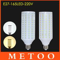 Super bright 50W E27 220V LED lamps 5630 SMD 165 LEDs 360 degree light lustres High Quality Indoor use led lanterna Factory