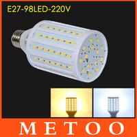 New Arrival E27 220V led lamps 98 Leds SMD 5630 30W lustres Warm White/ Cool White LED lanterna Light 1Pcs/Lot Free Shipping