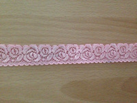 New 20 meters/lot  2.5cm width light pink  Elastic Stretch Lace trim DIY sewing clothing garment accessory decoration,headband