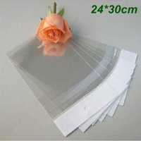 Wholesale 100Pcs/Lot 24cm*30cm Clear Self Adhesive Seal Plastic Bag OPP Poly Bag Retail Packaging Bag With Hang Hole