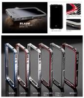 MOQ:1pcs, Blade trigger metal bumper for iphone4 4s 5 5s M2 4th design 2 in 1 premium aluminum bumper case,Free shipping