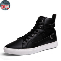 Men winter shoes tidal current male high-top shoes skateboarding fashion shoes cotton-padded shoes free shipping