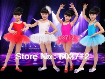 Дети танец тюль платье балета девушки подвеска платье фитнес одежды износ производительность купальник костюм бесплатная доставка